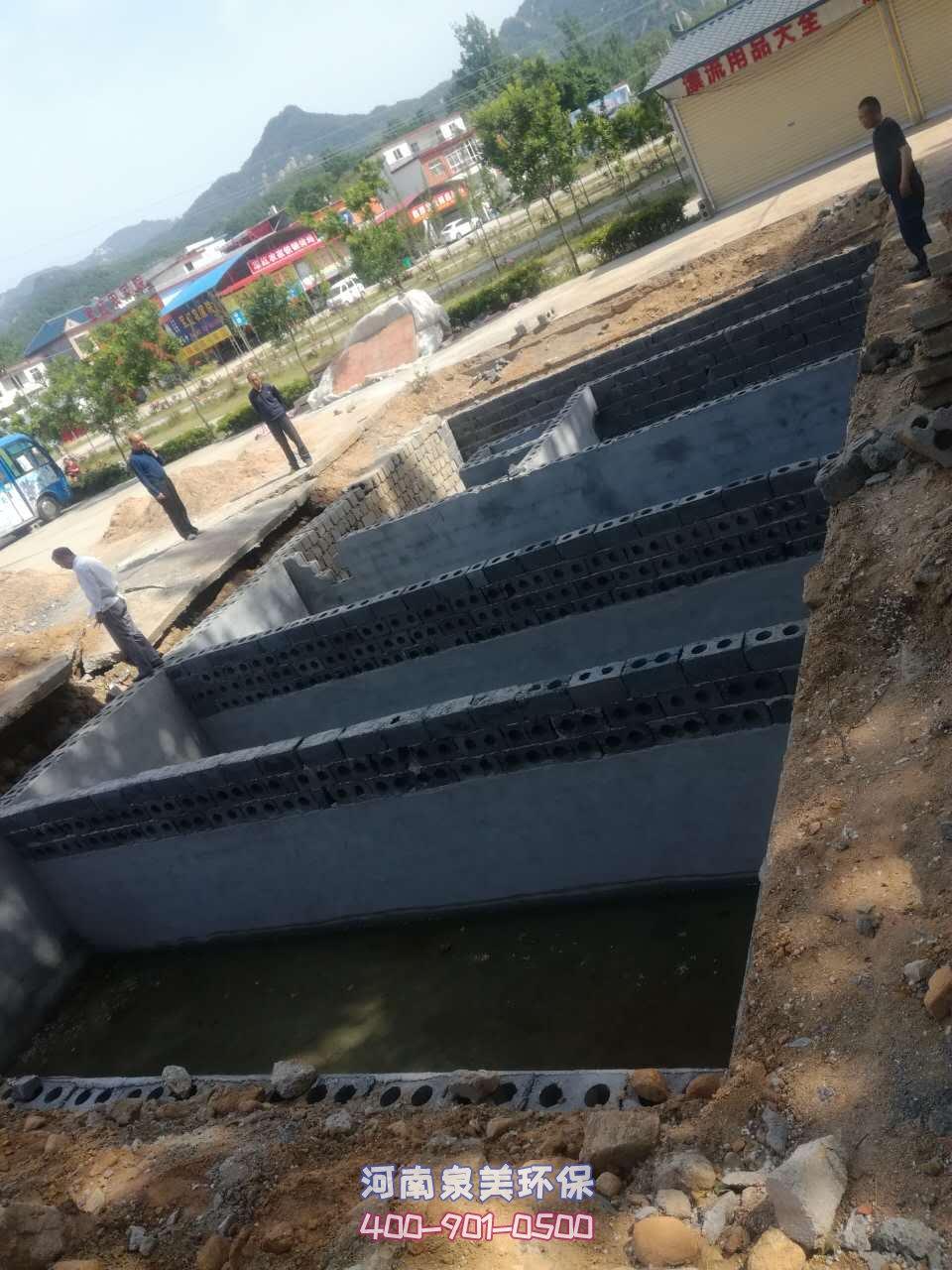 地埋式污水处理设备的安装真实效果